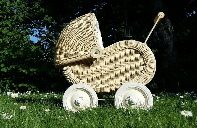 Puppenwagen Holz